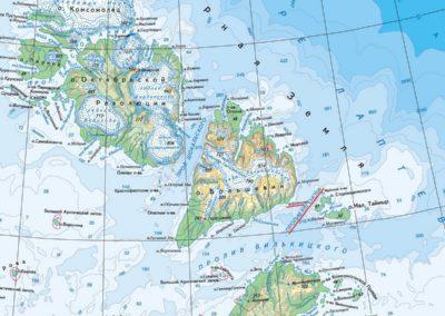 28 карта Северной Земли с именами Н.Евгенова