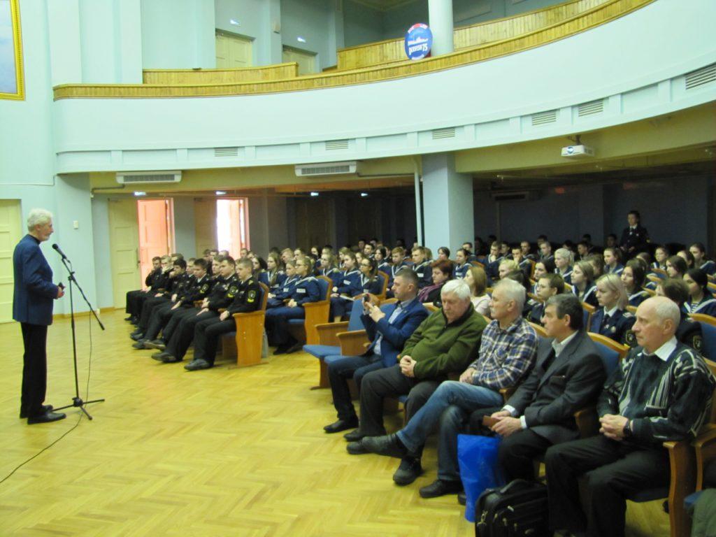 4 февраля 2020 г. в Морском колледже Государственного университета морского и речного флота имени адмирала С.О. Макарова прошла презентация проекта «Неизвестные герои Севера»